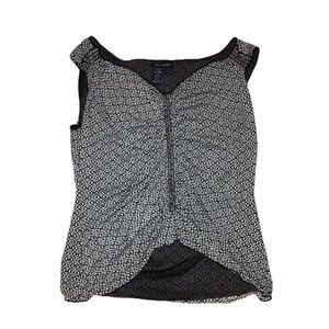 MAX EDITION Black and White Sleeveless Top…